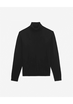 The Kooples - black wool and cashmere turtleneck sweater - bla