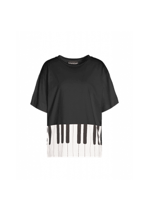 T-shirt With Piano Print
