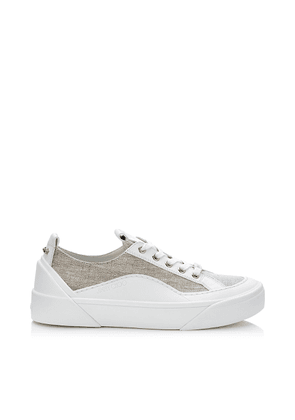 CHOO V.B.C LACE UP/F Natural Linen Lace Up Trainers