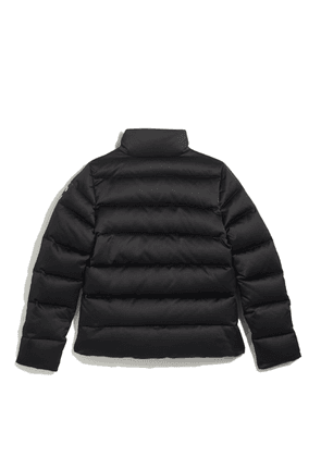 JC-PUFFER Black Shell Quilted Down Puffer Jacket with JC Logo