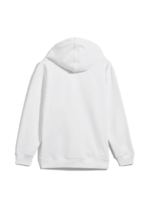JC-HOODIE White Cotton Oversized Hoodie with JC Logo