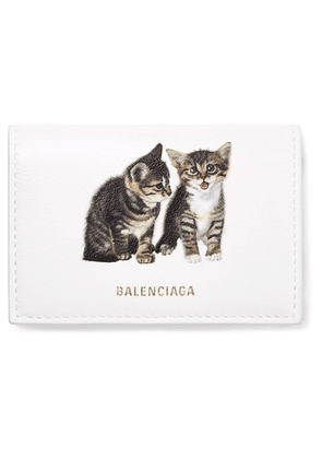 Balenciaga - Ville Mini Printed Leather Wallet - White