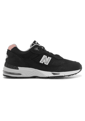 New Balance - 991 Suede, Mesh And Leather Sneakers - Black