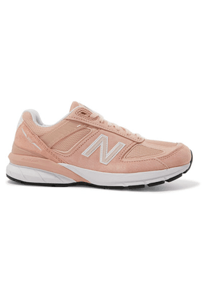 New Balance - 990 Suede, Mesh And Leather Sneakers - Baby pink