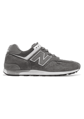 New Balance - 576 Suede, Mesh And Leather Sneakers - Gray