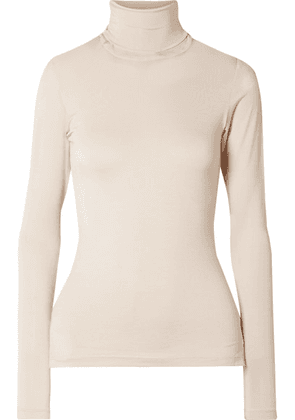 Johanna Ortiz - Net Of Antrea Stretch-jersey Turtleneck Top - Ecru