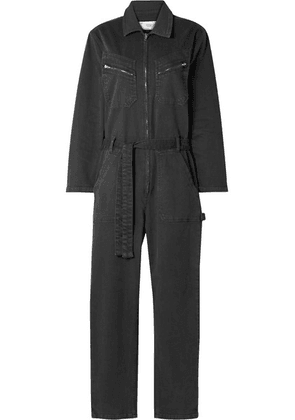 IRO - Flories Belted Denim Jumpsuit - Charcoal