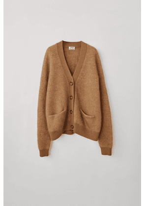 Acne Studios Rives Mohair Caramel brown Mohair-blend cardigan
