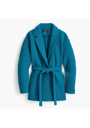 Tall Camille short wrap coat in Italian boiled wool