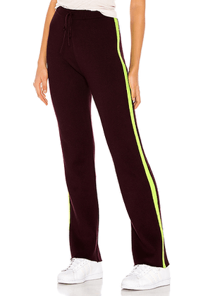For Love & Lemons Veronica Neon Pants in Wine. Size M,S,XS.