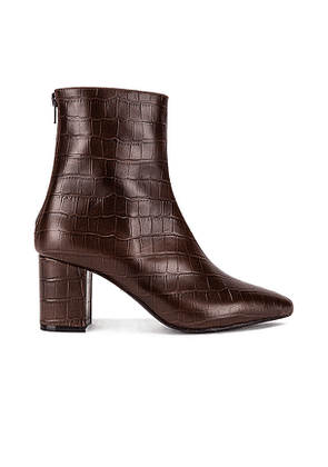RAYE Halo Bootie in Brown. Size 5.5,6,6.5,7,7.5,8,8.5,9,9.5.