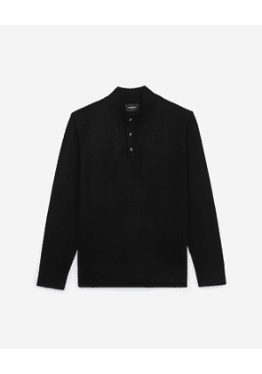 The Kooples - black acrylic sweater with high neck - bla