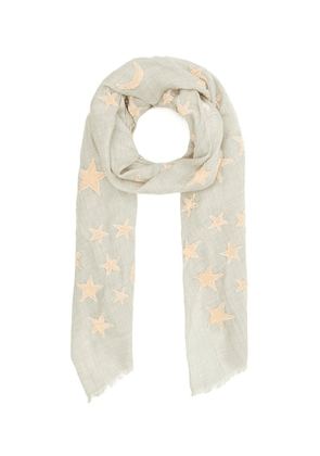 Appliquelvet Moon And Star Wool-Blend Scarf