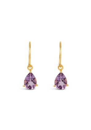 Gold Vermeil Gem Drop Amethyst Drop Earrings