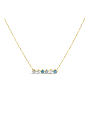 Gold Vermeil Gem Drop Topaz Bar Necklace