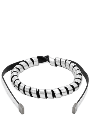 Leather Torchon Necklace