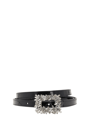 15mm Embellished Patent Leather Belt