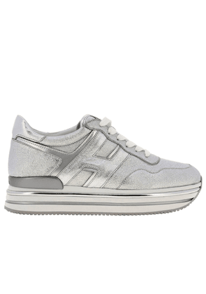 Sneakers Hogan Laminated And Mirrored Leather Sneakers With Sole 222