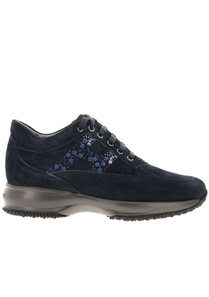 Sneakers Hogan Interactive Suede Sneakers With Flower-shaped Micro Studs