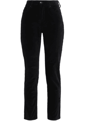 Kate Spade New York Cotton-blend Velvet Slim-leg Pants Woman Black Size 28