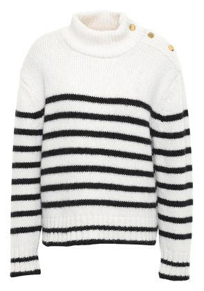 Kate Spade New York Striped Alpaca-blend Sweater Woman Ivory Size M
