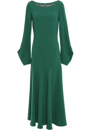 Talbot Runhof Crepe Midi Dress Woman Emerald Size 34
