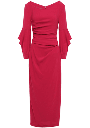 Talbot Runhof Draped Cutout Crepe Midi Dress Woman Red Size 40