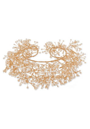 14 / Quatorze - Baby's Breath Gold-plated Pearl Cuff - one size