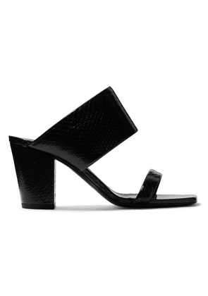 SAINT LAURENT - Oak Watersnake Mules - Black