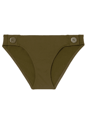 Eres - Pop Swell Button-detailed Bikini Briefs - Army green