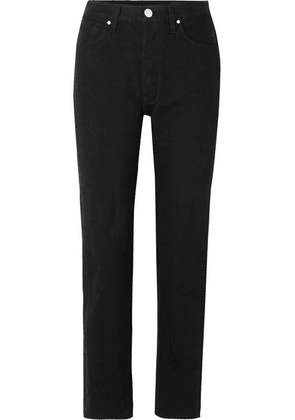 Goldsign - The Benefit High-rise Straight-leg Jeans - Black