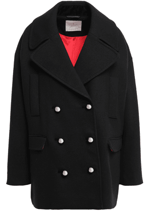 Kate Spade New York Double-breasted Wool-blend Coat Woman Black Size S
