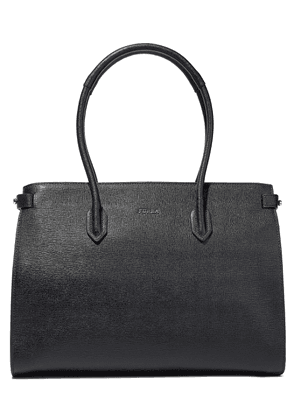 Furla Pin Textured-leather Tote Woman Black Size --