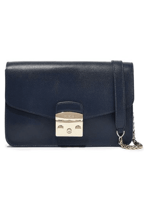 Furla Metropolis Textured-leather Shoulder Bag Woman Navy Size --