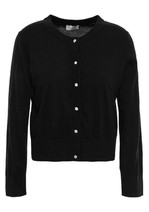 Kate Spade New York Silk, Cotton And Cashmere-blend Cardigan Woman Black Size XL