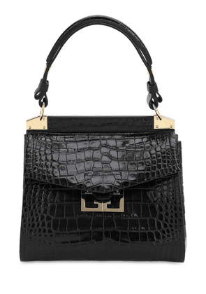 Small Mystic Croc Embossed Leather Bag