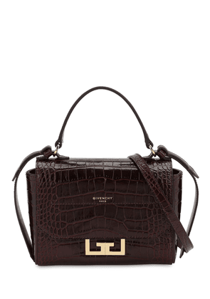 Mini Eden Croc Embossed Leather Bag