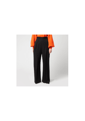 JW Anderson Women's High Waisted Wide Leg Trousers - Black - UK 6