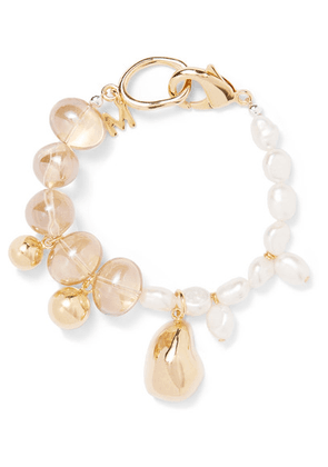 Mounser - Gold-plated Glass And Pearl Bracelet - one size
