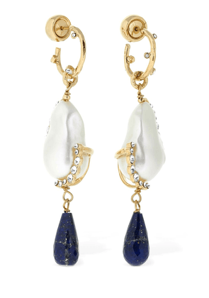 Midnight Lapis Lazuli Drop Earrings