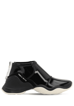 50mm Faux Patent Leather Sneakers