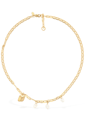 Crew Short Necklace W/pearls & Charm