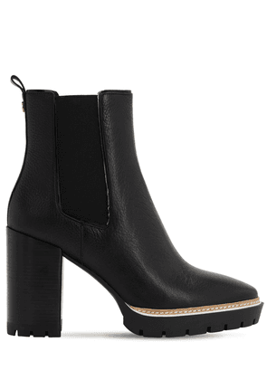 100mm Miller Leather Ankle Boots