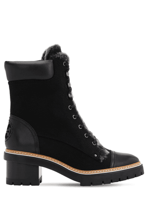 60mm Miller Suede & Shearling Boots