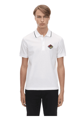 Logo Patch Cotton Piqué Polo