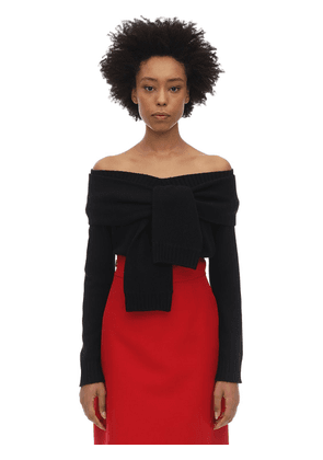 Wool & Cashmere Knit Top W/knot Detail