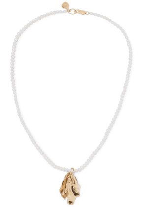 Leigh Miller - Azalea Gold-plated Pearl Necklace - one size