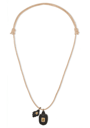 Dezso by Sara Beltrán - Leather Multi-stone Necklace - Rose gold