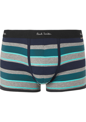 Paul Smith - Striped Stretch-cotton Boxer Briefs - Blue