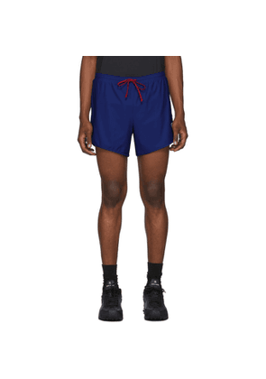 District Vision Blue Track Shorts